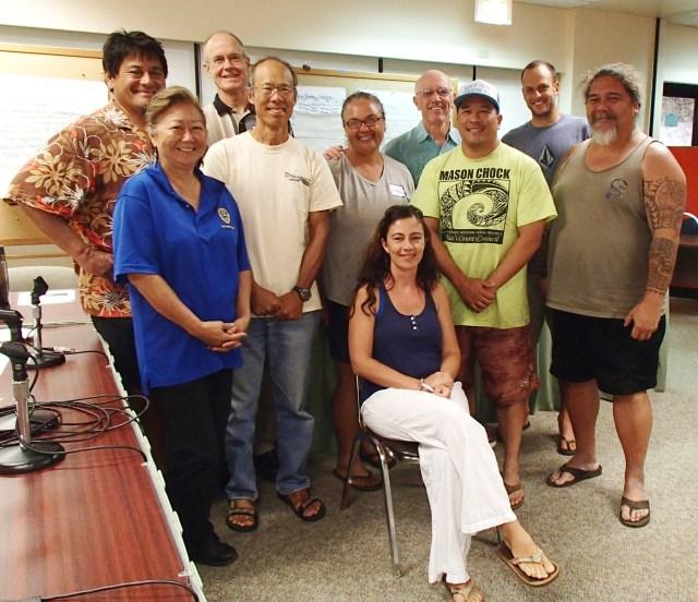 Standing left to right: Pepe, Pomai, Mark, Steve, Debbie, Carl, Mason, Luke, Alberto. Seated: Sara